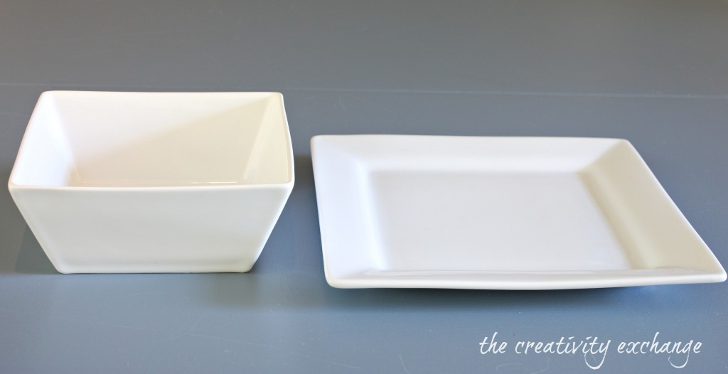 Tutorial for turning a plate and a bowl into a chic cake stand {The Creativity Exchange}