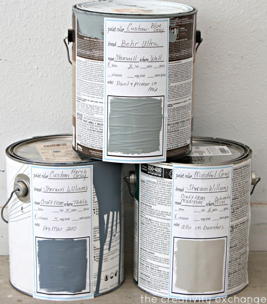 free printable labels and binder sheets for labeling paint cans & keeping up with paint colors {Paint It Monday} The Creativity Exchange