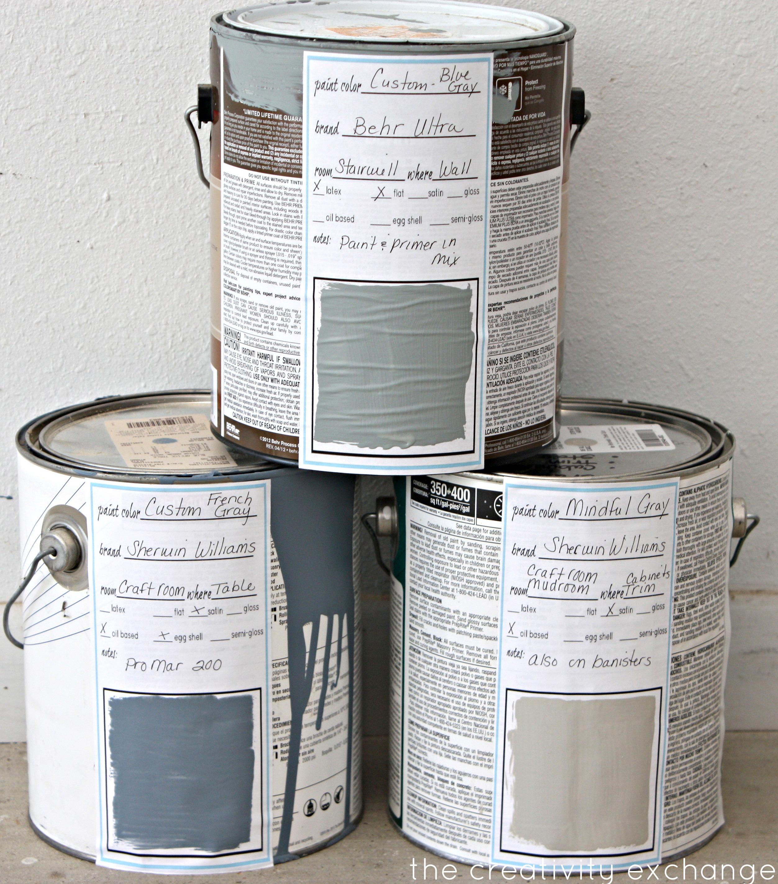 Quart Paint Can Label Template