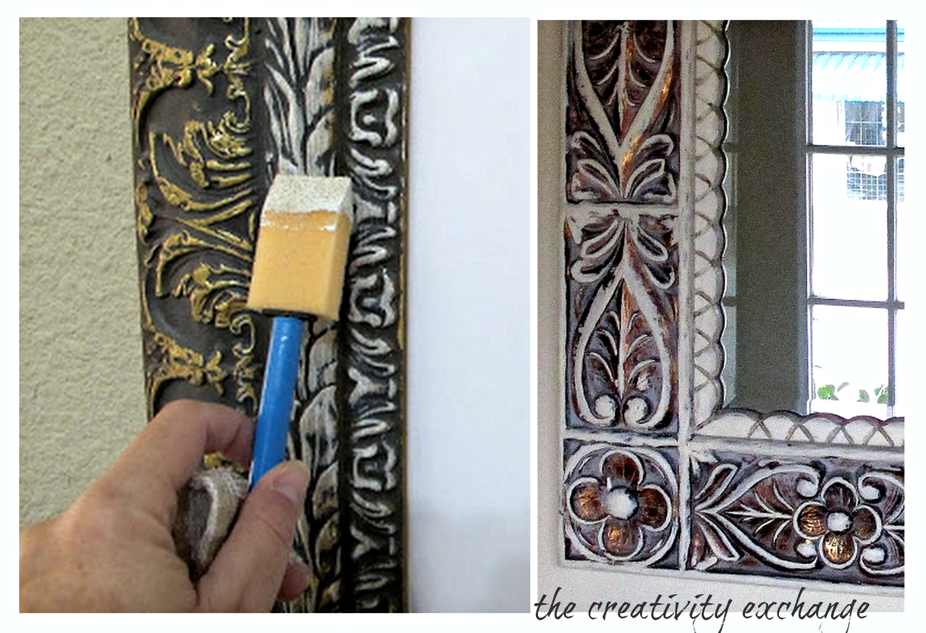 Tutorial For How To Dry Brush To Instantly Update Old Mirrors:frames Or  Furniture.