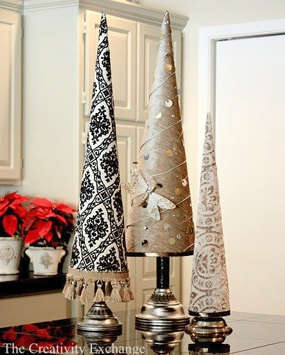 Poster Board Christmas Tree Cones