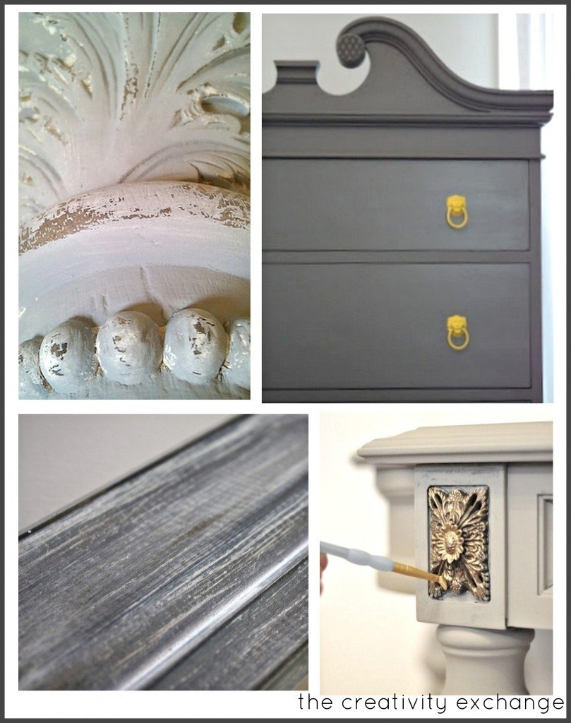 Favorite trends in DIY paint treatments for furniture {Paint It Monday} The Creativity Exchange