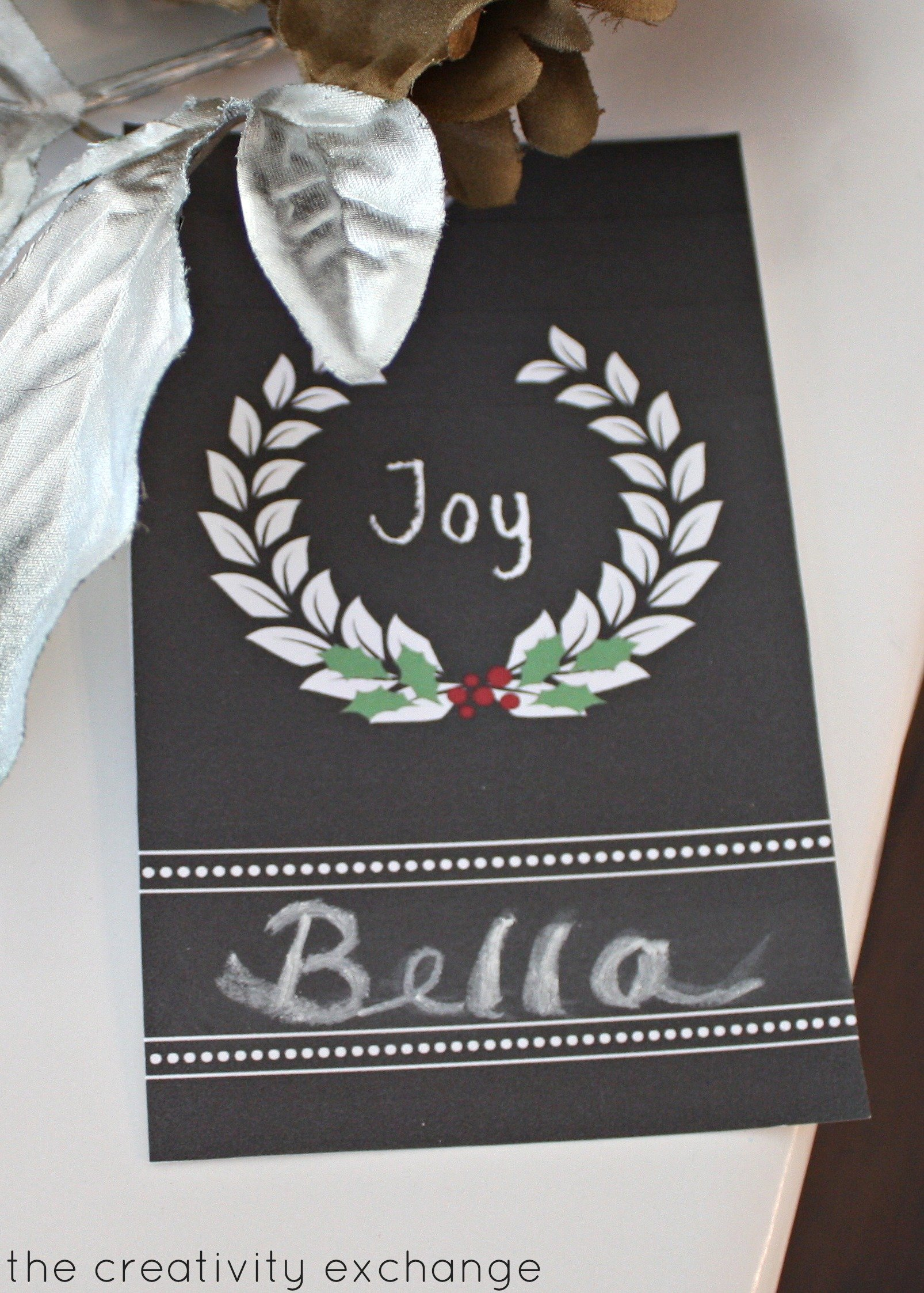 free printable chalkboard holiday tags that you write on with chalk the creativity exchange - Free Holiday Printable