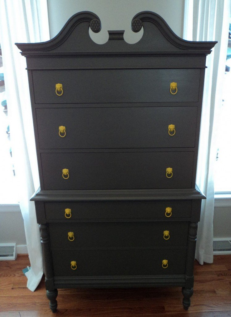Highboy transformed with Behr paint in flat finish {The Richmond Thrifter} Paint It Monday