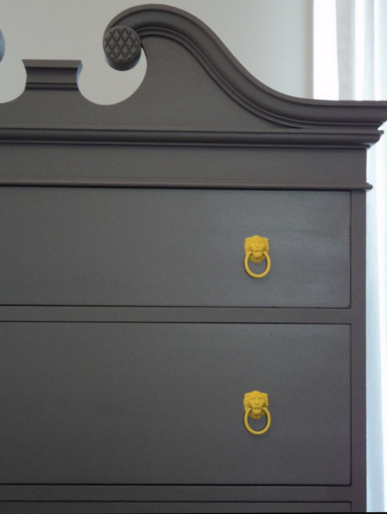 Highboy transformed with Behr enamel paint in a flat finish {The Richmond Thrifter} Paint It Monday