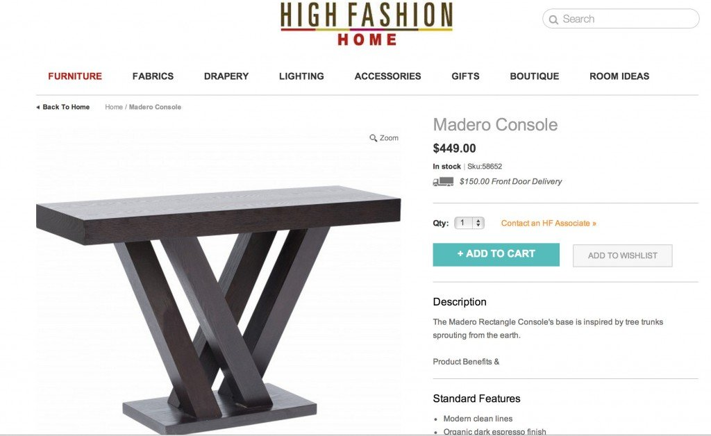 Madero Console for $449.00 from High Fashion Home {Look for Less} The Creativity Exchange