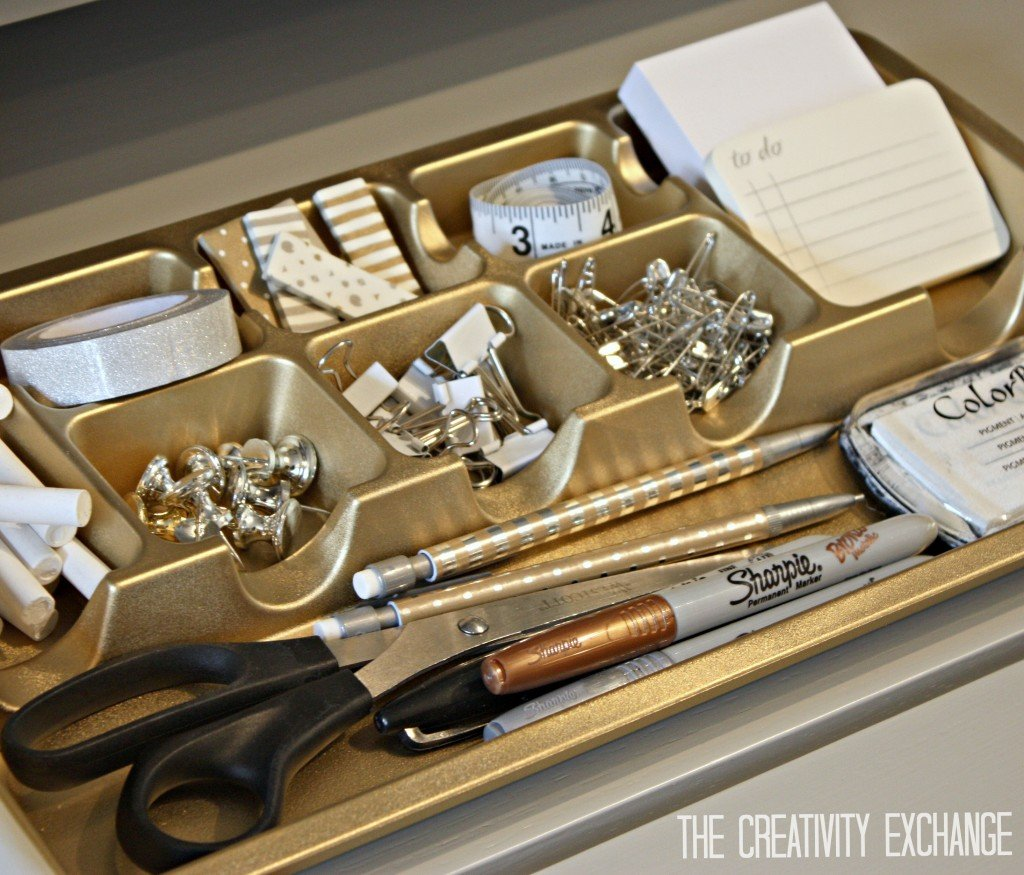 Spray Paint Drawer Organizers In Chic Metallics Paint It