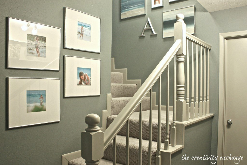 Stairwell revamp before and after {The Creativity Exchange