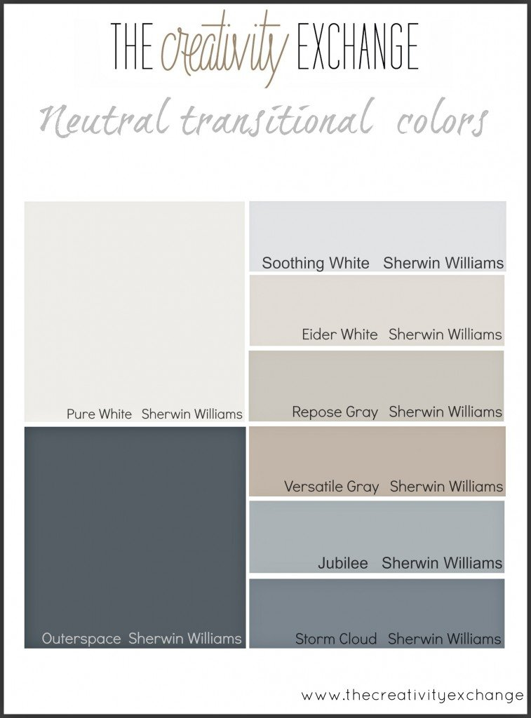 Starting point for choosing paint colors for a home for Choosing paint colors