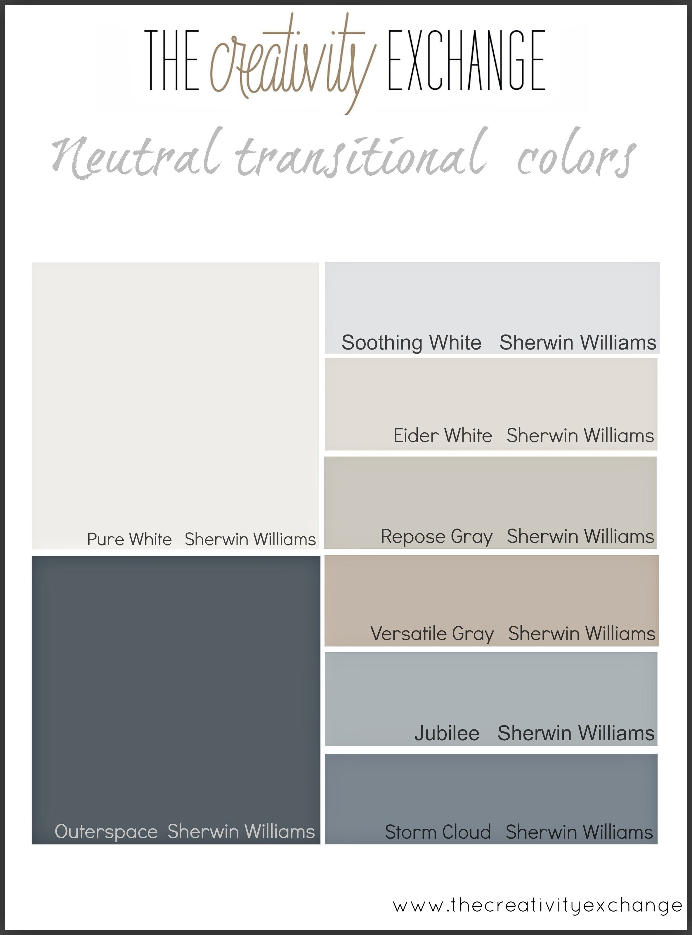 Starting point for choosing paint colors for a home for Grey white paint colors
