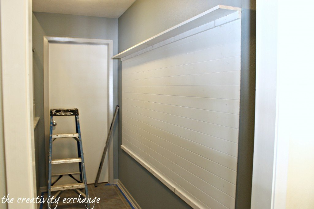 Tutorial for making a built-in mudroom in a narrow hallway (The Creativity Exchange)