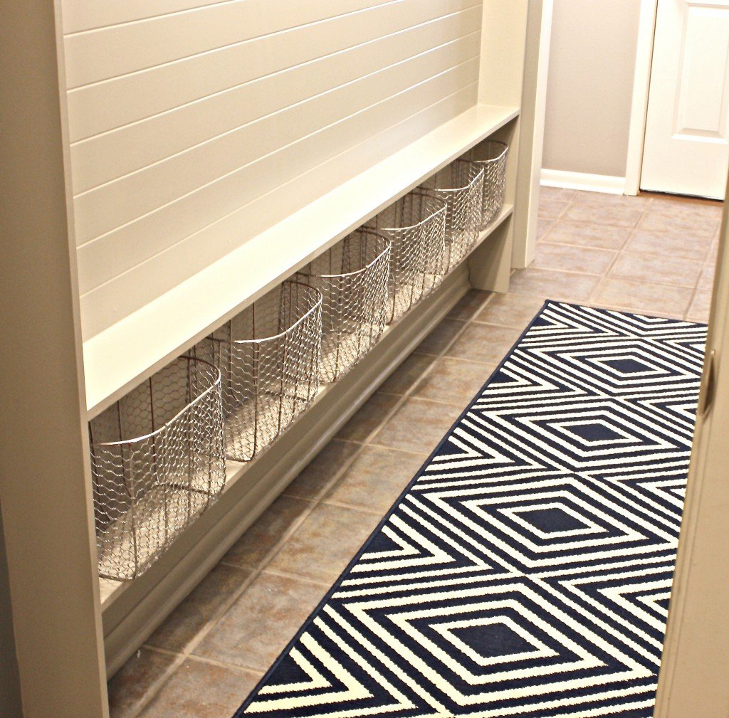 narrow hallway built-in mudroom {The Creativity Exchange}