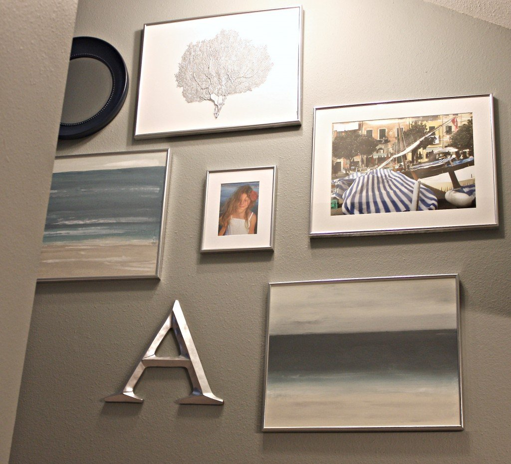 stairwell gallery wall {The Creativity Exchange}