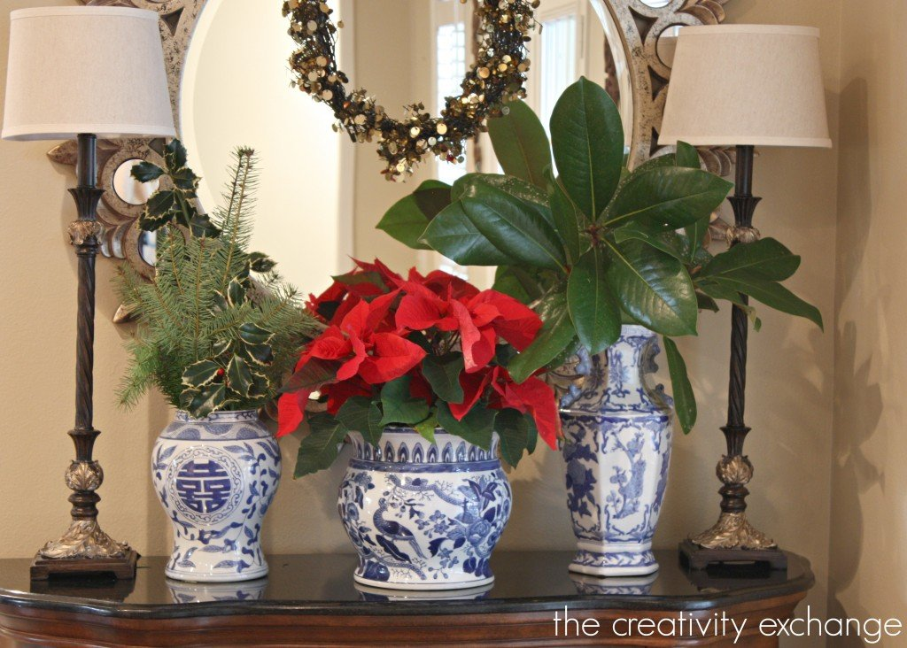 Blue and white for Christmas {The Creativity Exchange}