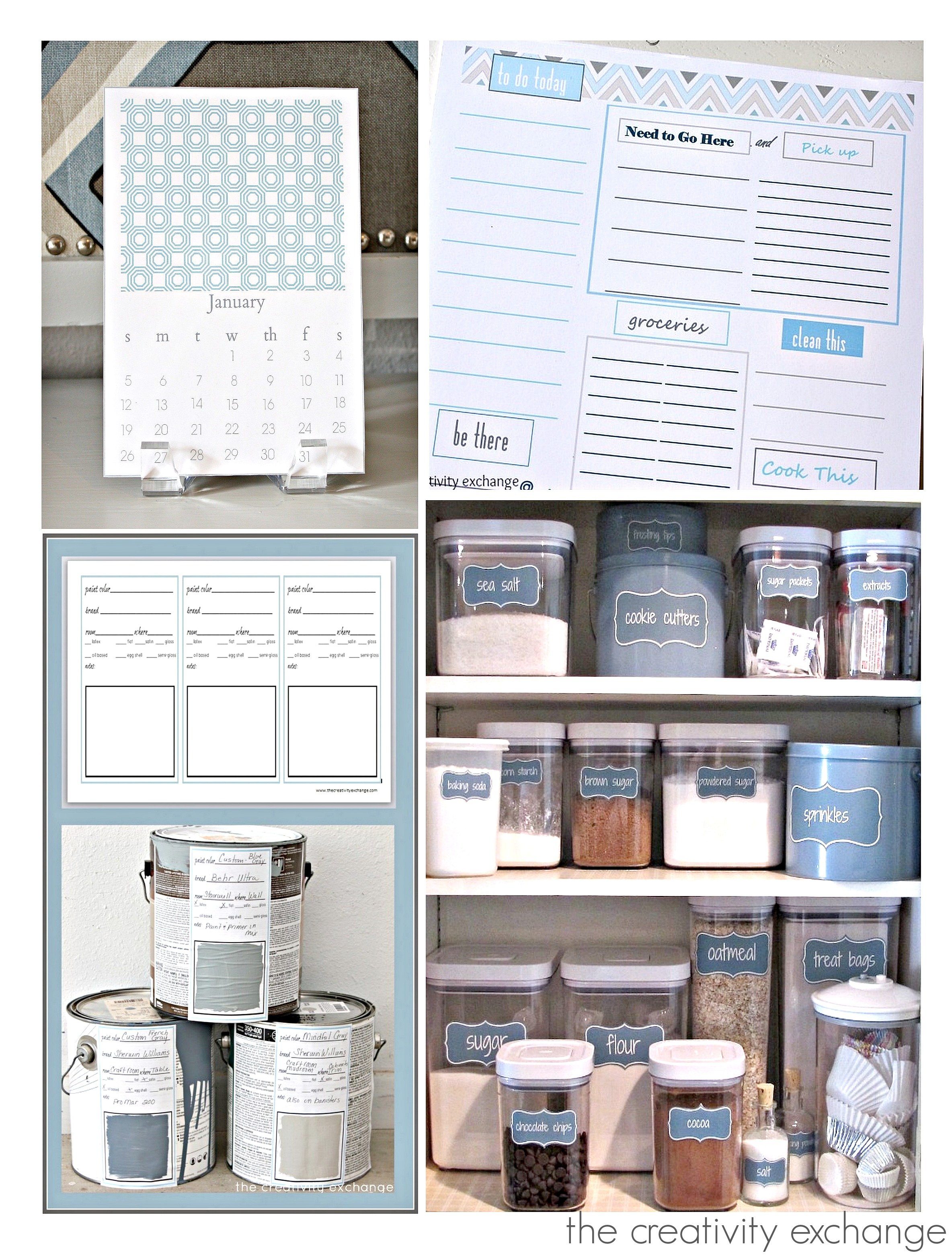 Five Ways to Get Organized with Free Organizing Printables..