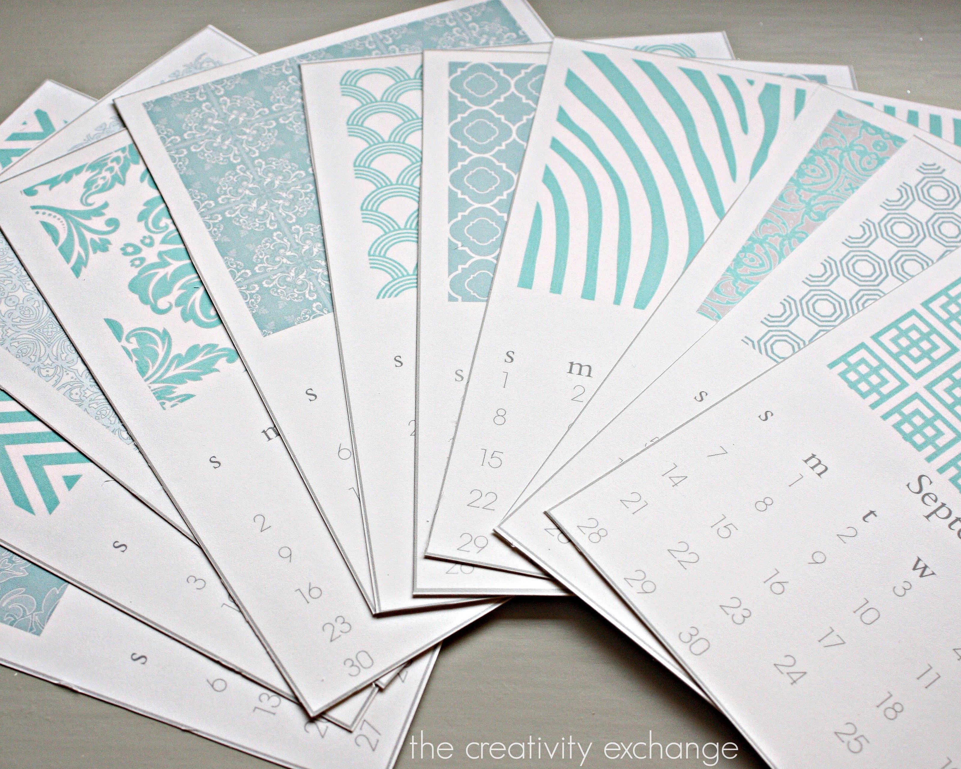Calendar Design And Print : Free printable chic desktop calendar