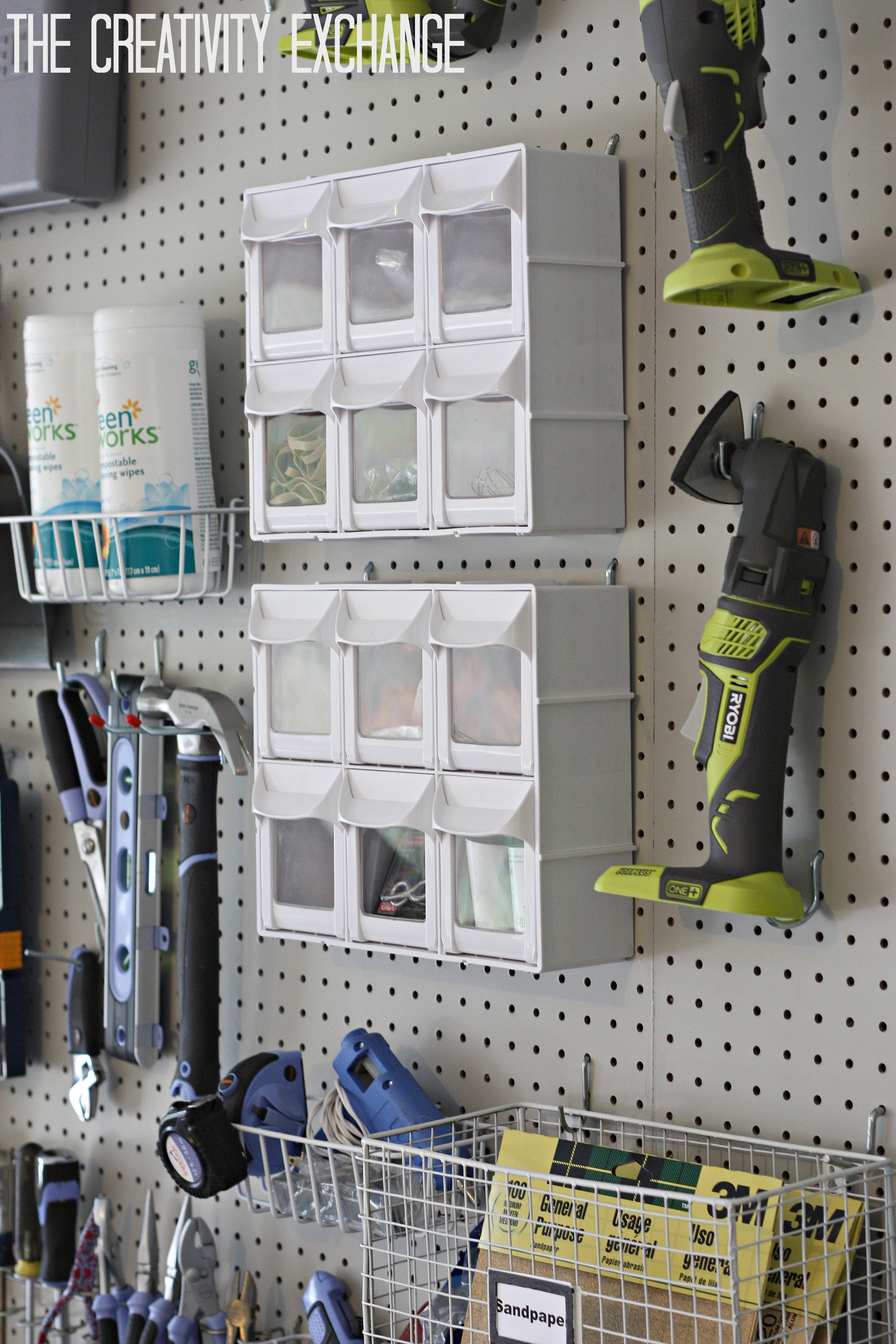 Organizing the garage with diy pegboard storage wall - Simple ways of keeping your home organized using magnetic picture frames ...