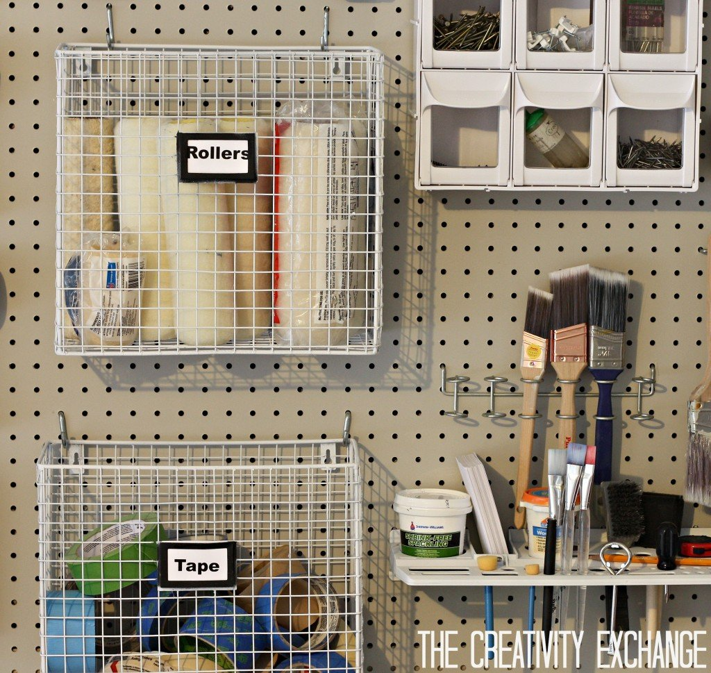 Organizing the garage with diy pegboard storage wall for Garage ad biard