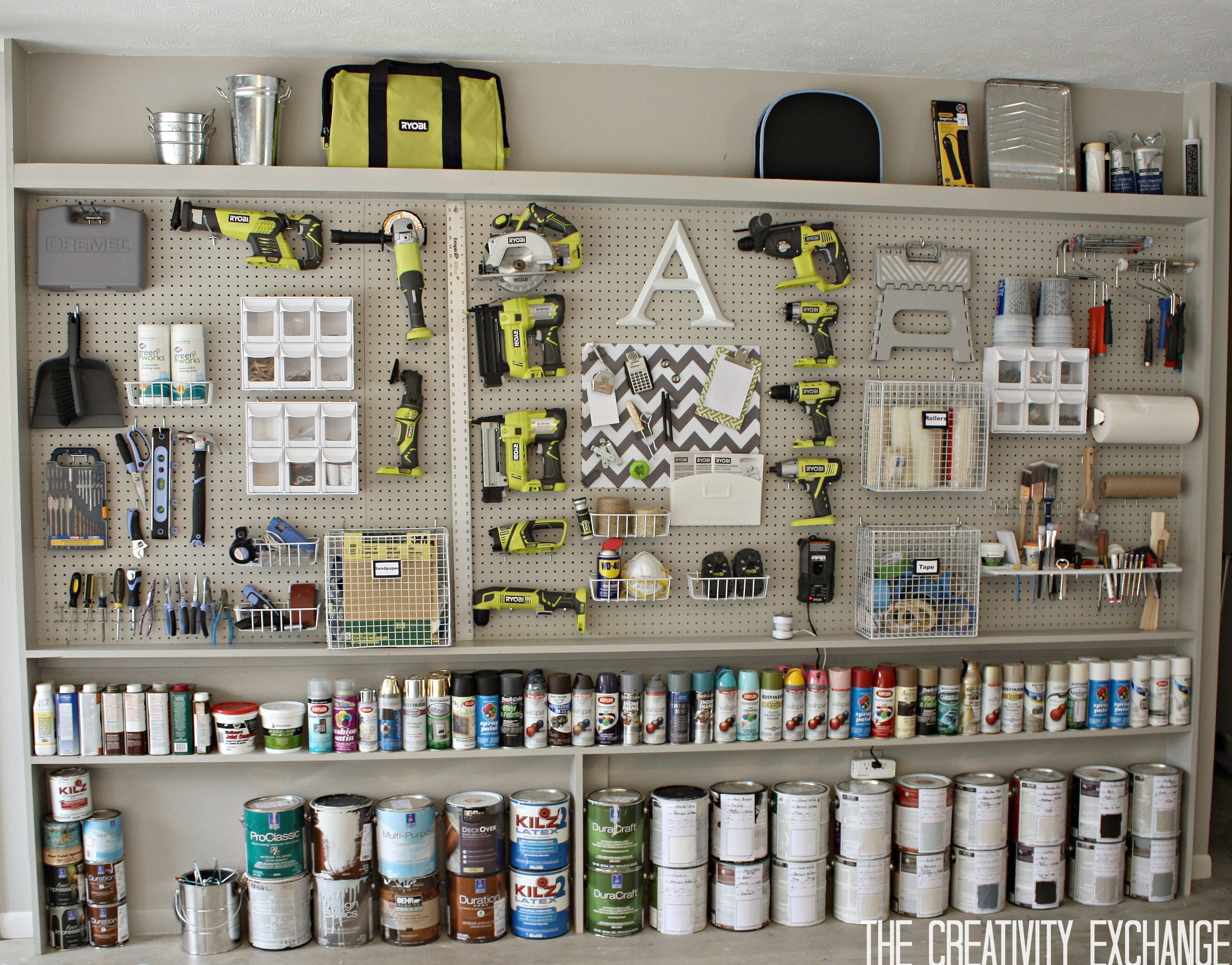 Diy Storage Tutorial For Organizing The Garage With A Pegboard Storage Wall