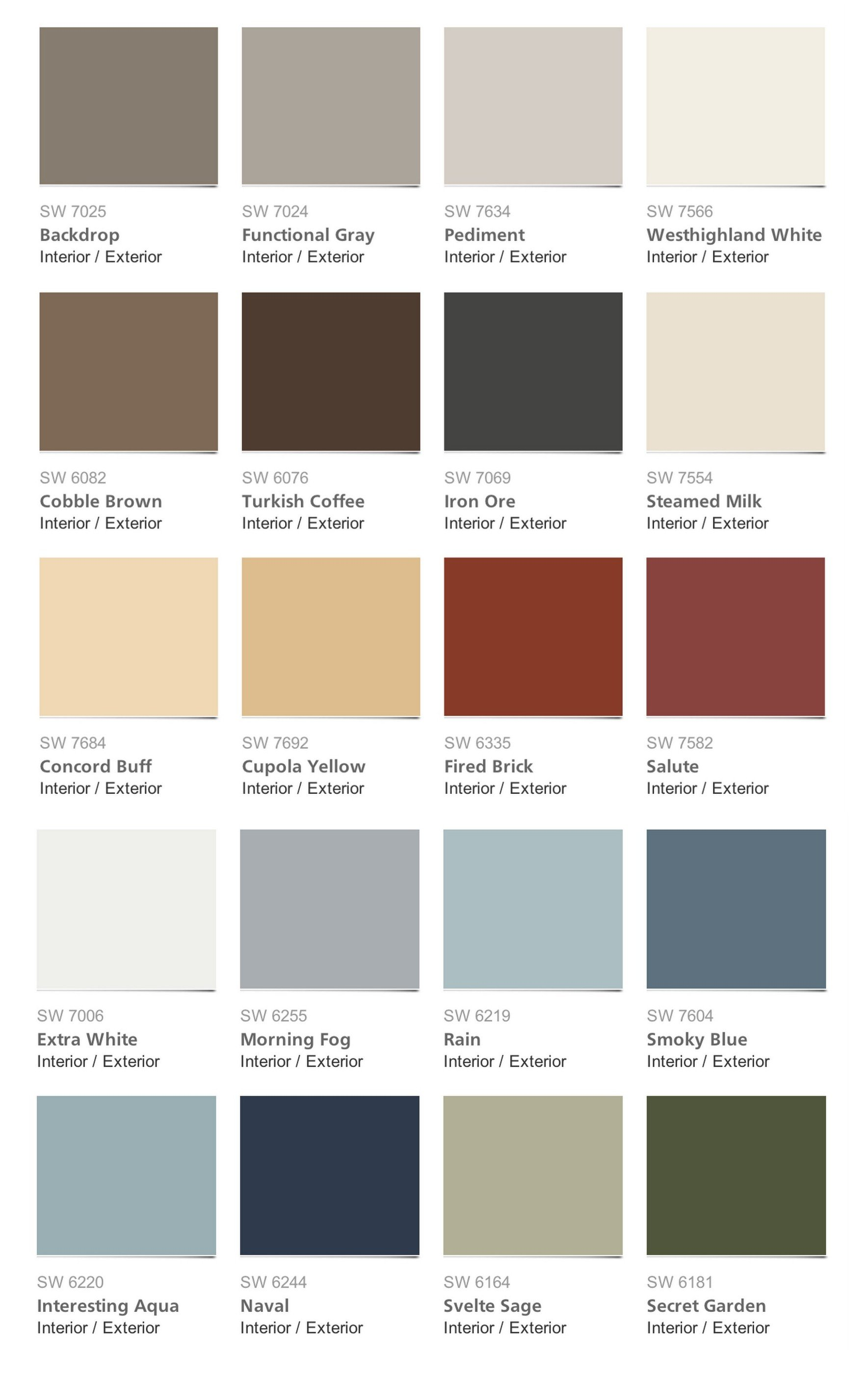 Favorite pottery barn paint colors 2014 collection paint Most popular sherwin williams colors 2015