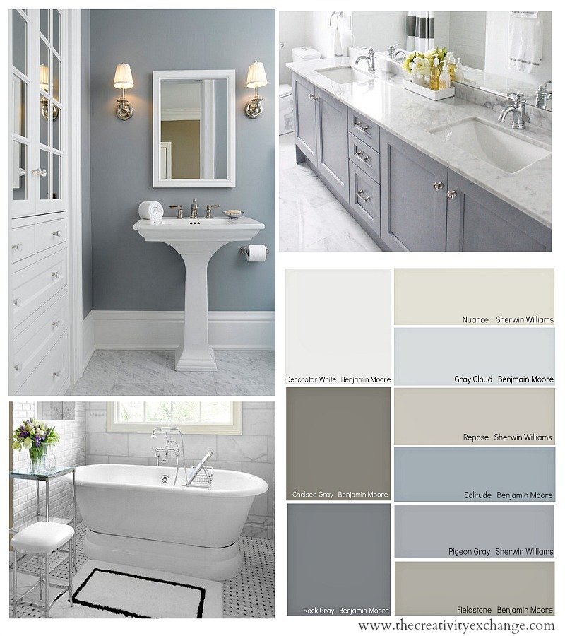Choosing bathroom paint colors for walls and cabinets for Bathroom paint colors