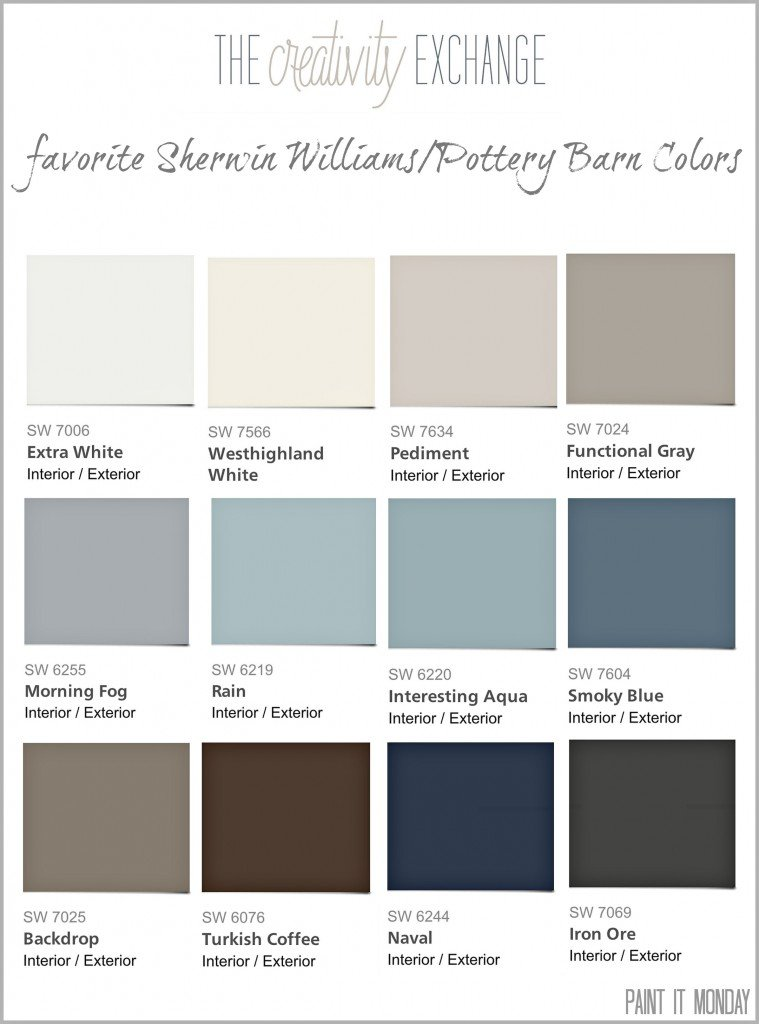 Pottery Barn paint colors from Sherwin Williams 2014 Collection {Paint ...