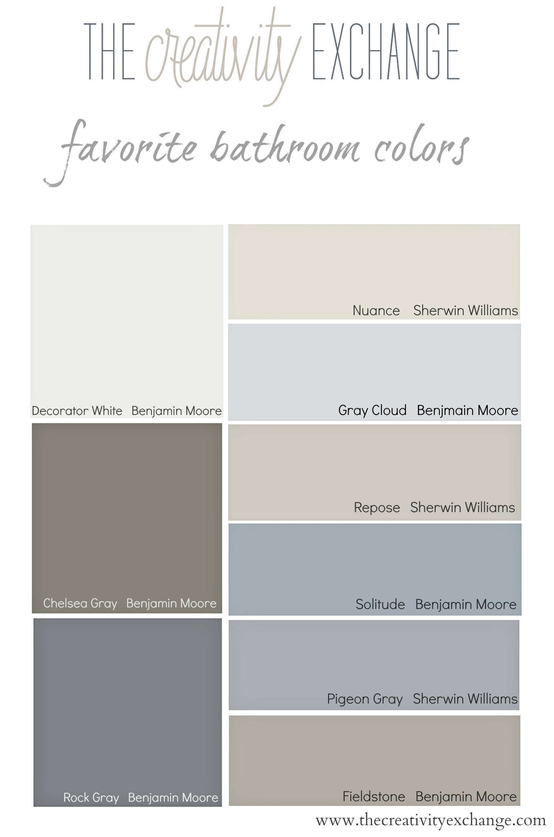 Favorite Bathroom Wall And Cabinet Colors Paint It Monday The Creativity Exchange