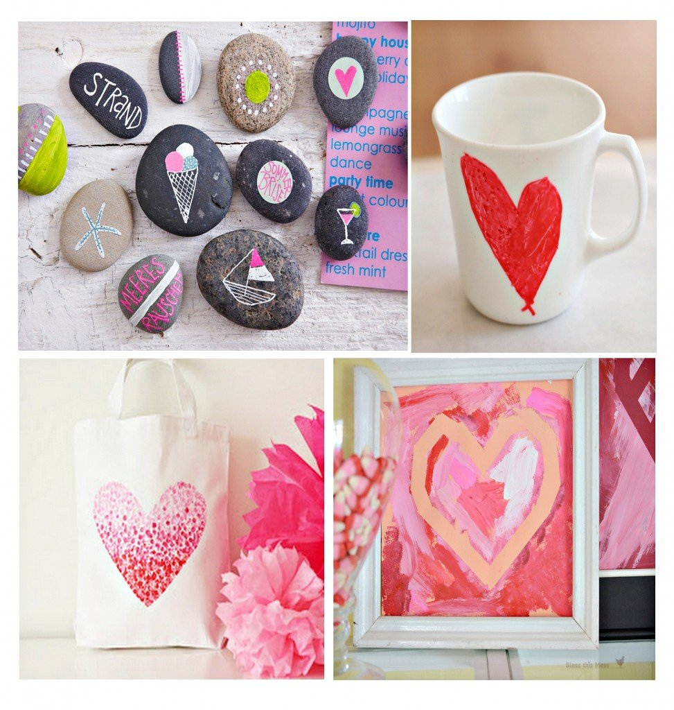 fun kid's paintable gift ideas for Valentine's Day {Paint It Monday} The Creativity Exchange