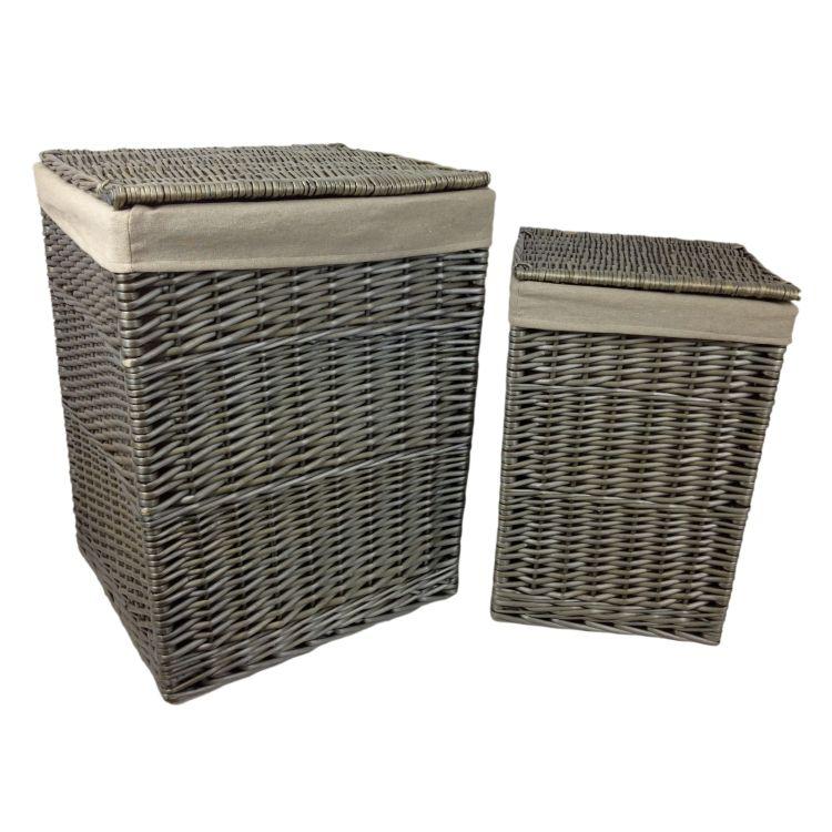 gray baskets