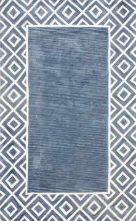 Cornflower blue rug from Rug USA- Infusing shades of indigo {The Creativity Exchange}
