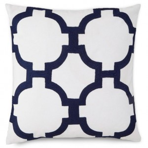 Hampton Links pillow from Layla Grayce- Deocrating with Shades of Indigo {The Creativity Exchange}