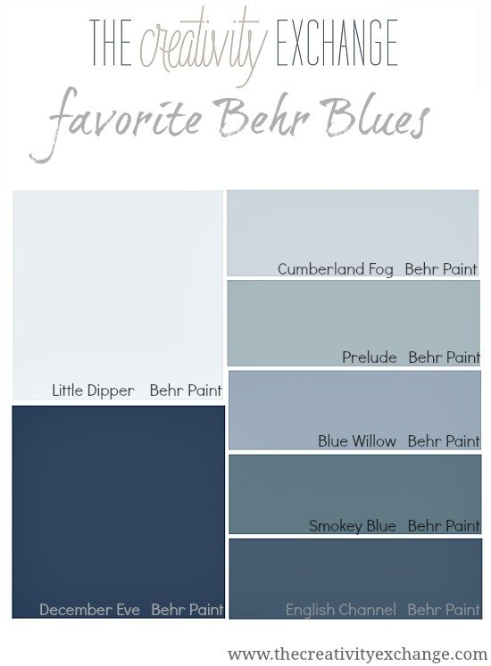 Favorite Behr Blues {Paint It Monday} The Creativity Exchange