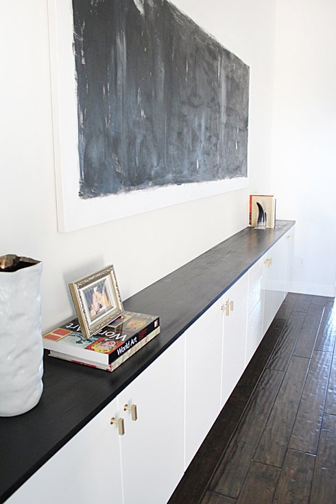 Floating cabinets by installing Ikea Akurum Cabinets