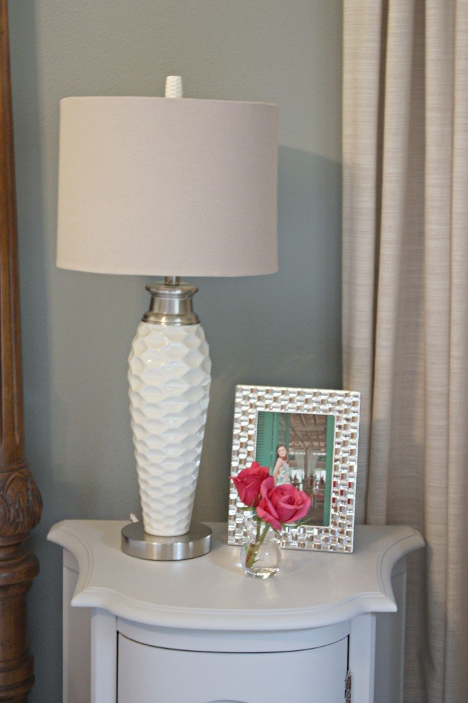 Kirkland's white pitted ceramic lamp- The Creativity Exchange