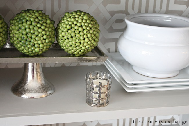 silver grid votives from Kirkland's on sale today for $2.97- The Creativity Exchange