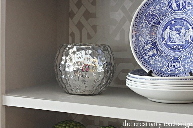 silver mercury glass bowls for candles and flowers on sale at Kirkland's right now for $6.97- The Creativity Exchange