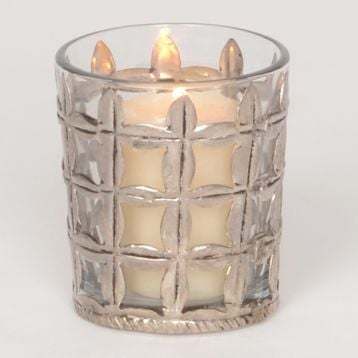 small silver mercury glass grid votive holders for $2.97 from Kirkland's- The Creativity Exchange