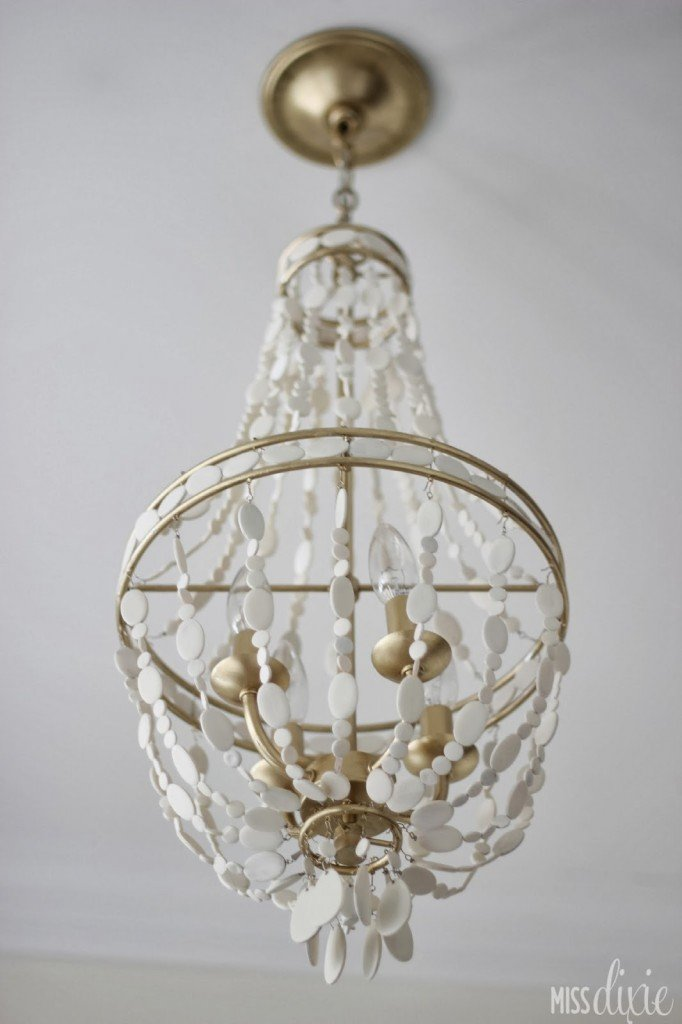 DIY painted chandelier from Miss Dixie