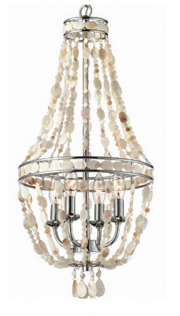 Lowe's Mother of Pearl Empire Chandelier $79.00 {The Creativity Exchange}
