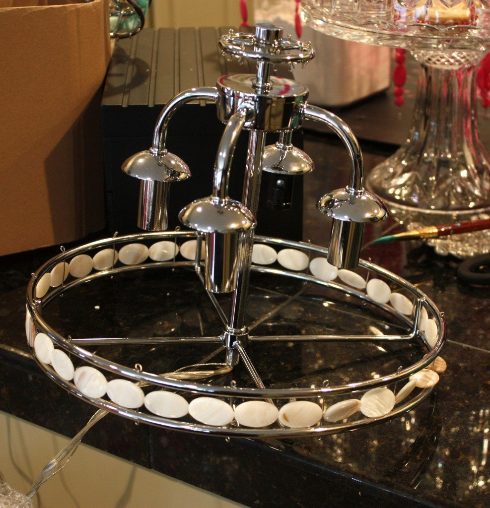 Tutorial for painting chandelier {The Creativity Exchange}