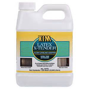 XIM Latex Extender.  Best paint extender on the market and if you add a capfull to your paint, it eliminates brush marks and extends drying time. {The Creativity Exchange} Paint It Monday