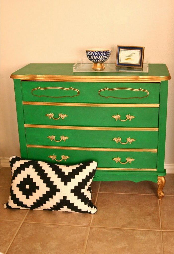 Dresser painted with Velvet Finishes in the color Baroque from Windgate Lane
