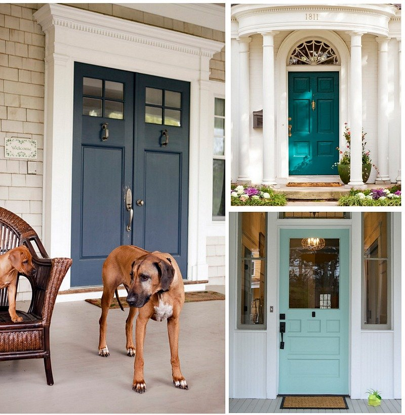 Tempting paint colors for the front door paint it monday - Front door paint colors ...