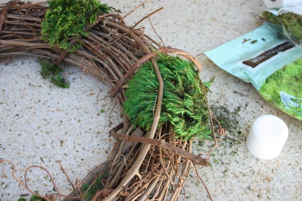 DIY Mixed Moss Grapevine Wreath The creativity exchange