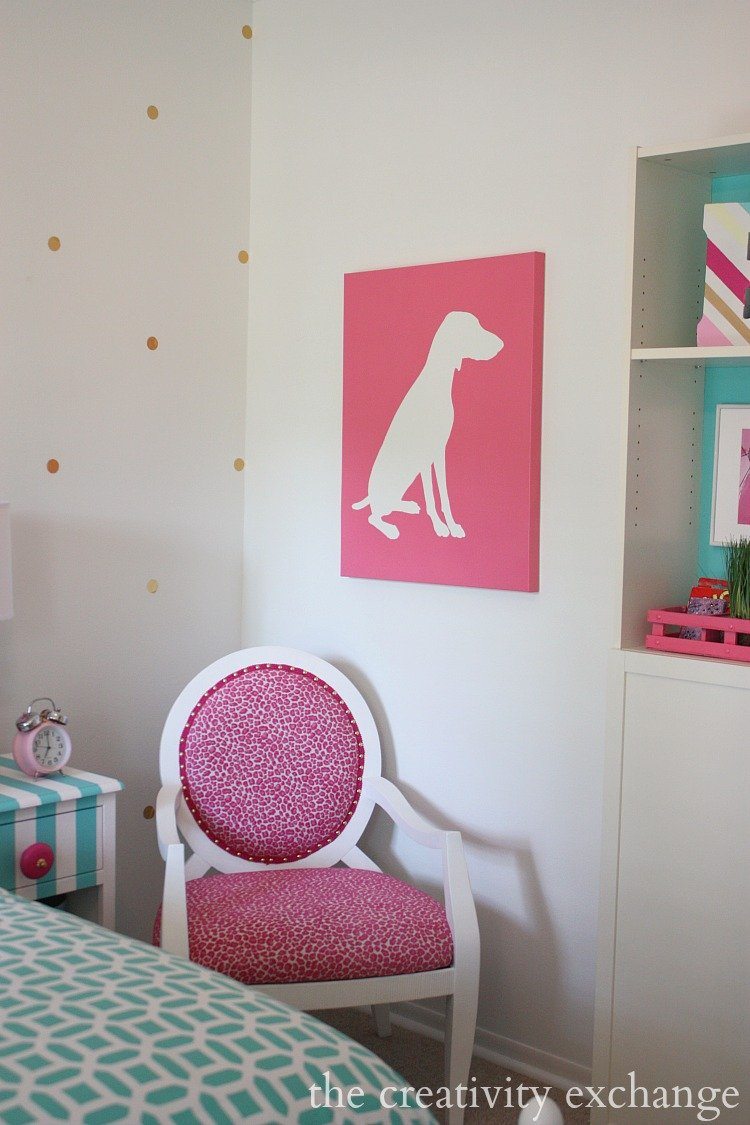 Girls Room: Little Girl's Room Revamped To Bright And Bold Tween Room