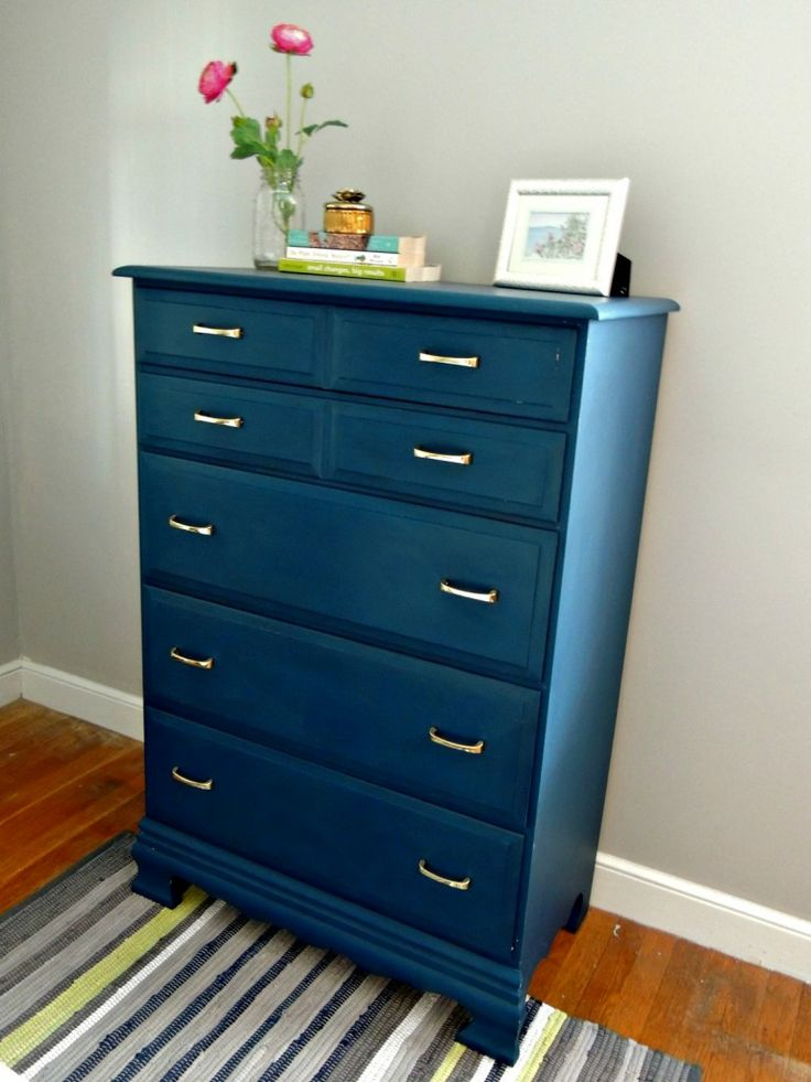 Dresser painted with Velvet Finishes in the color Handsome. From Wife in Progress