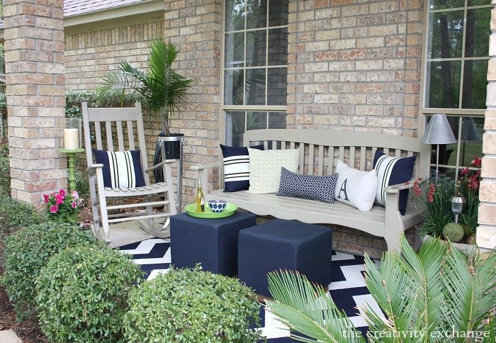 Hello spring front porch revamp for Outdoor furniture for small front porch