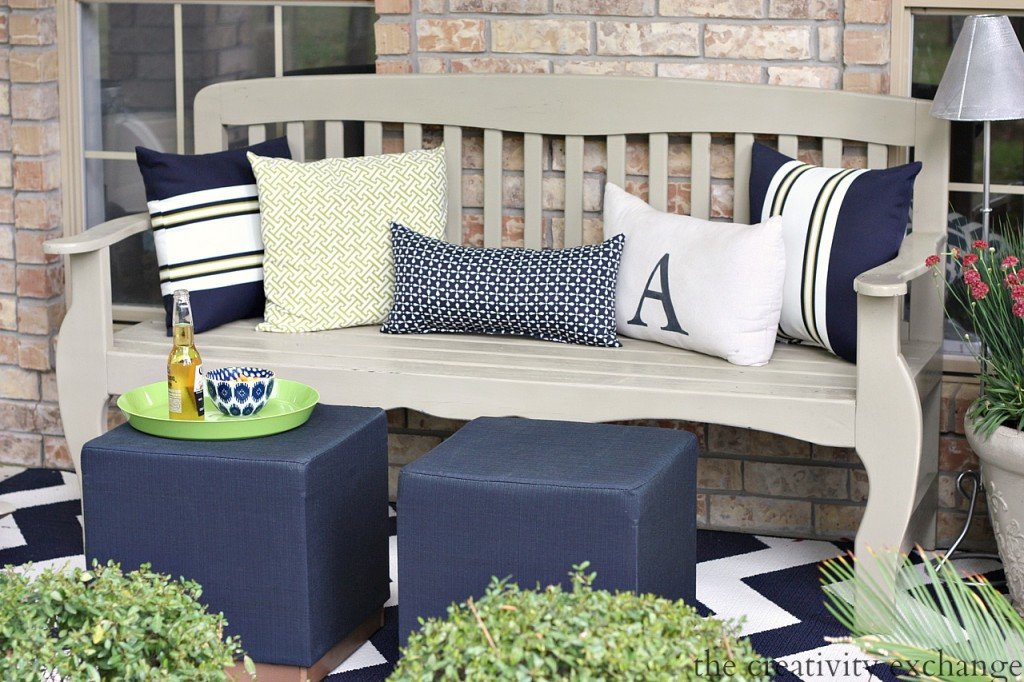 Front porch revamp ideas from The Creativity Exchange