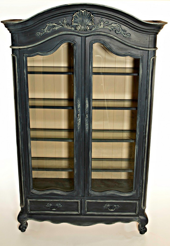 Armoire painted with the new Velvet Finishes paint line. The Creativity Exchange