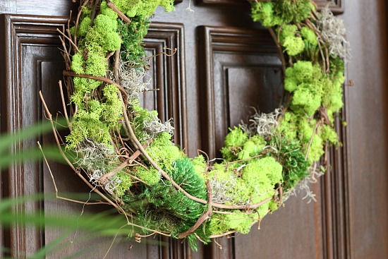 Mixed Moss Grapevine Wreath (The Creativity Exchange)